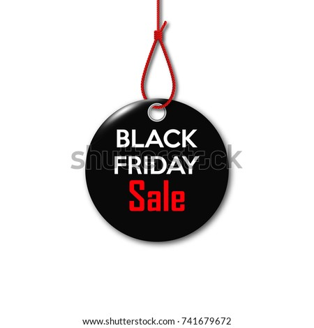 black friday black tag on the