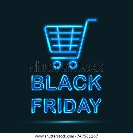 black friday blue neon sign