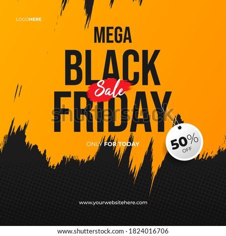 black friday brush sale banner design for advertising