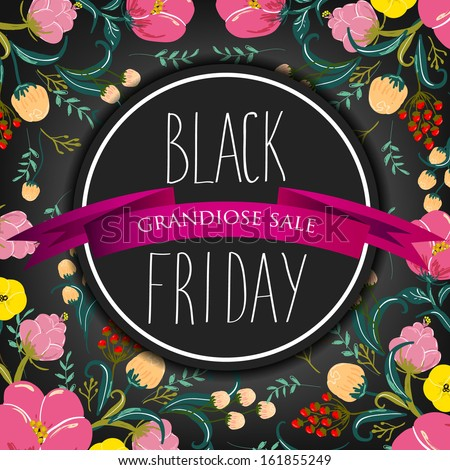 Black Friday Calligraphic Designs. Poster Sale.Typography. Vector illustration.