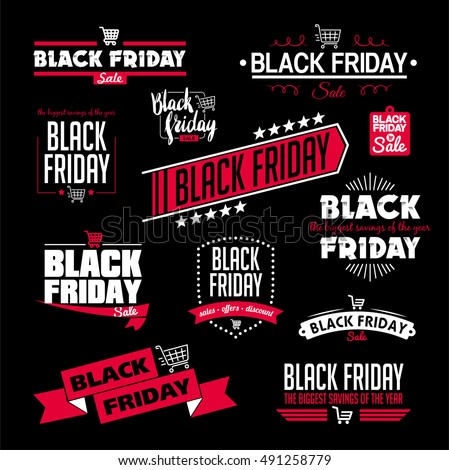 Black Friday Calligraphic Designs Vector Set | Retro Style | Vintage Ornaments | Sale, Clearance