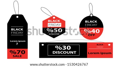 black friday campaign day and campaign posters vector