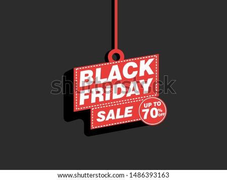 Black friday - concept promotion banner template vector illustration, eps10