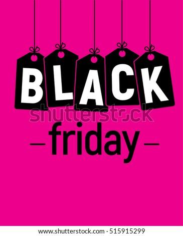 black friday design on pink