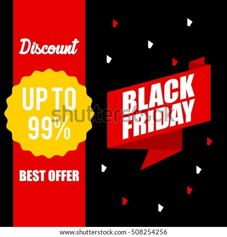 Black friday discount,sale,price cut banner