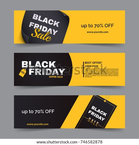 black friday horizontal banner