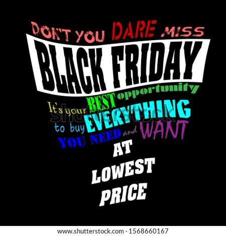 black friday lettering