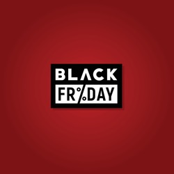 Black Friday Logo, Discount Sale Promo Sticker Label