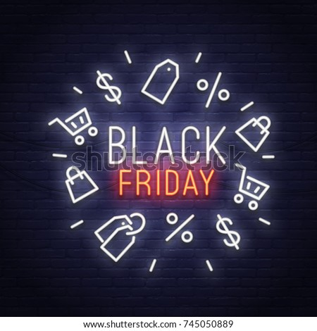 black friday neon sign sale