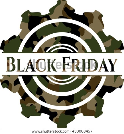 Black Friday on camo pattern