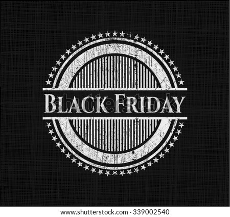 Black Friday on chalkboard