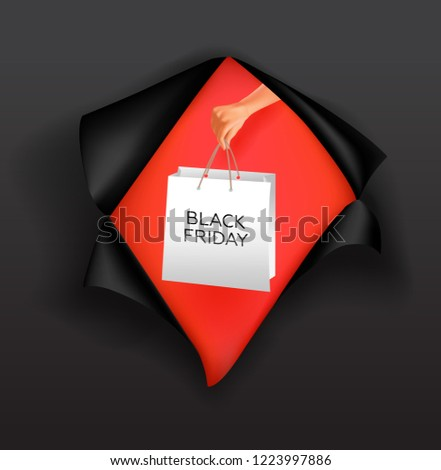 Black Friday poster design. Vector illustration. #1223997886