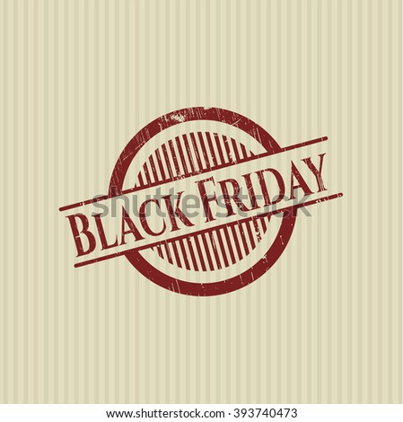 Black Friday rubber grunge stamp