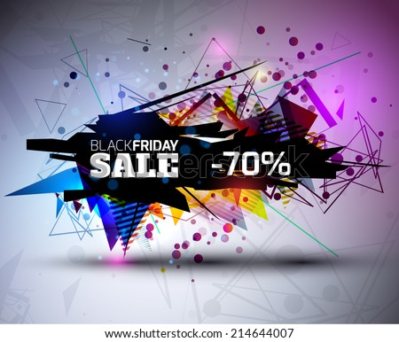 Black Friday Sale Abstract Vector Illustration for your business artwork