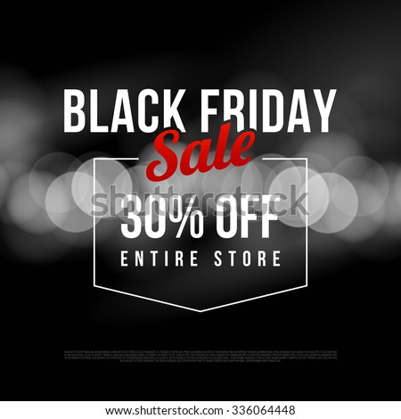 black friday sale ad template modern style vector design on bokeh background 336064448. Black Bedroom Furniture Sets. Home Design Ideas