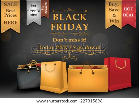 Black Friday sale advertising poster for print Advertising shopping poster for Black Friday CMYK colors used Size A3