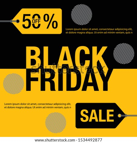 Black Friday Sale background. Black friday sale banner design. vector illustration