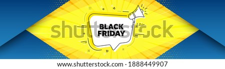 Black Friday Sale. Background with offer speech bubble. Special offer price sign. Advertising Discounts symbol. Best advertising coupon banner. Black friday badge shape message. Vector