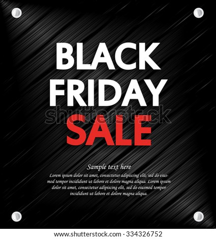 Black Friday Sale background with space for your text.. Metal background. Vector illustration. - Shutterstock ID 334326752