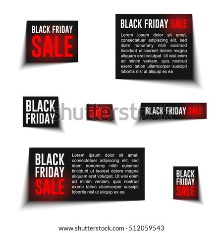 Black Friday Sale badges and labels and discount banners. Ready for your design, website, advertising, banner. Vector EPS10.