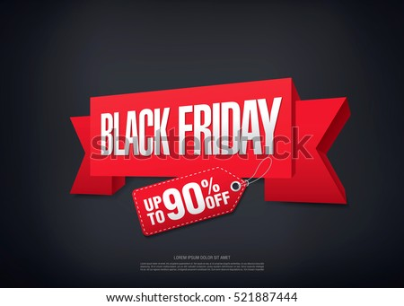 Black friday sale banner #521887444