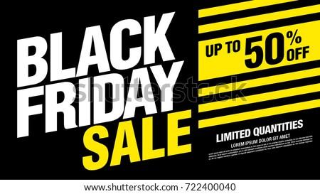 Black friday sale banner layout