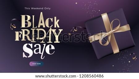 Black Friday sale banner. Social media vector illustration template for website and mobile website development, email and newsletter design, marketing material.