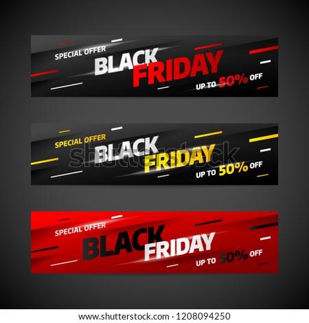 Black Friday sale banner template design. Special offer. Vector illustration eps 10.