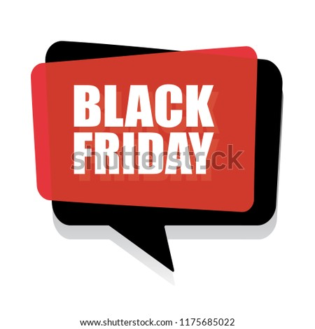 Black Friday Sale Banner. Vector.