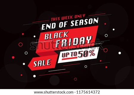 Black Friday sale banner vector illustration