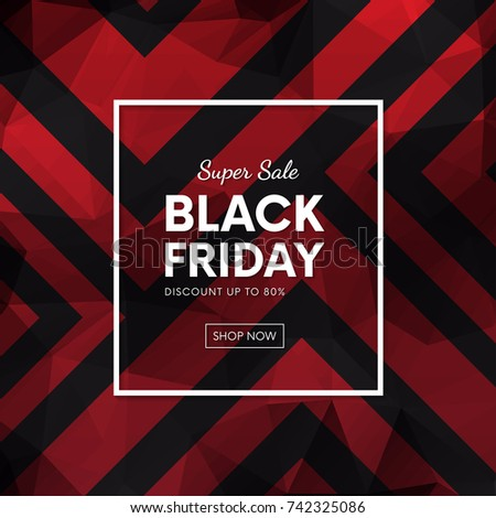Black Friday sale banner with abstract backdrop vector design.