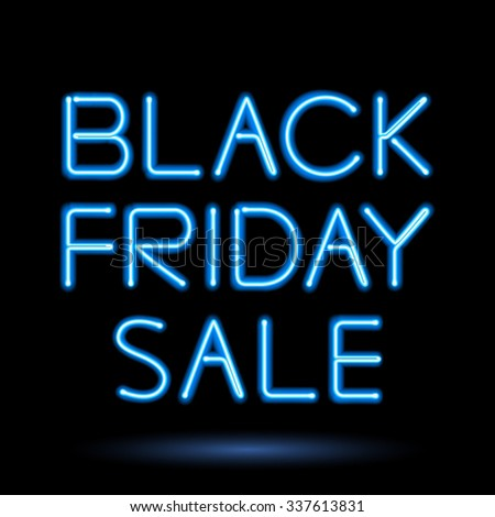 black friday sale blue neon