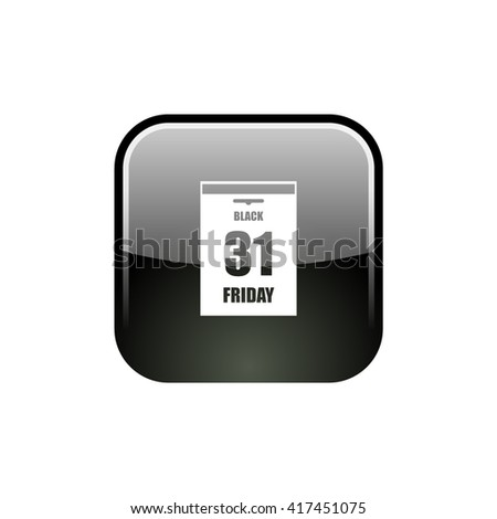 Black Friday Sale Calendar date page. Vector illustration
