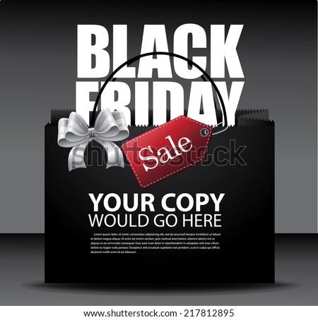 Black Friday sale design Eps10 vector