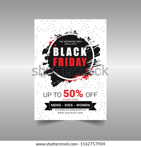 Black Friday sale Flyer Vector illustration