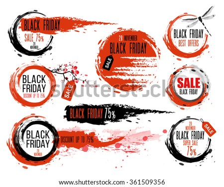 black friday sale hand drawn