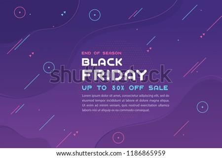 Black Friday sale inscription design template. Vector illustration