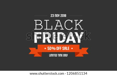 Black Friday sale label design template. Vector illustration of Black Friday promotion label concept