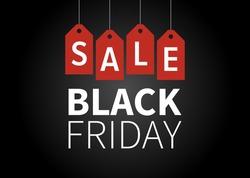 Black Friday sale promotion vector display poster / postcard