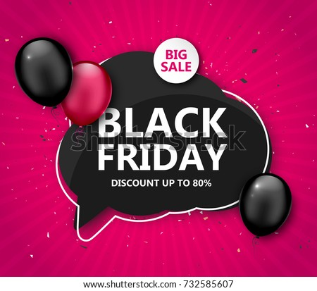 f4d13d0cc4 black friday deals background with balloons - Download Free Vector ...