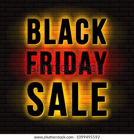 black friday sale sign back or