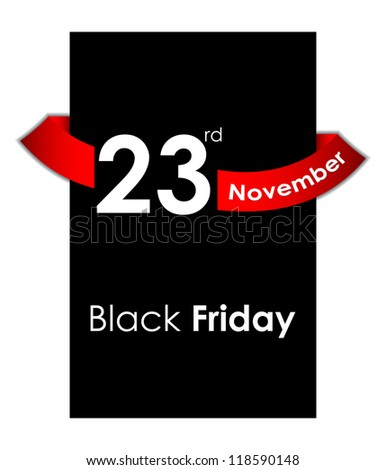 black friday sale tag design - stock vector