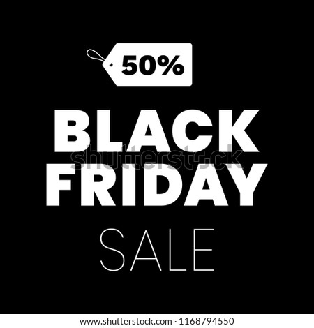 Black Friday Sale Tag Discount Modern Clean Design