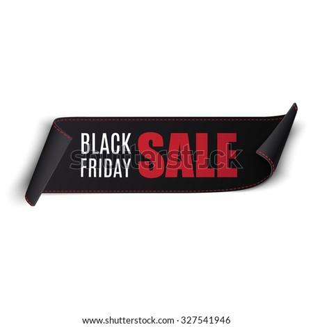 Black friday sale vector banner. Eps10