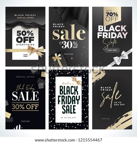 Black Friday sale. Vector illustration concepts of online shopping website and mobile website banners, posters, newsletter designs, ads, coupons, social media banners, marketing material.
