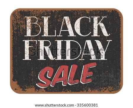 Black Friday Sale vintage sign