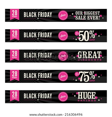 Black Friday Sales Banners Black Friday Sale Web Banners