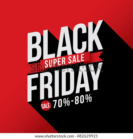 Black Friday Sale with discount 70%-80%. Vector illustration