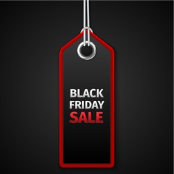 Black Friday sales tag. EPS 10 vector