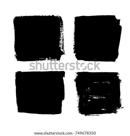 Black Friday set. Blots, banners, labels, backgrounds, brushes. Black Paint/ink texture. Vector illustration